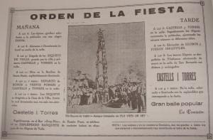 Programa de les festes del carrer de Sant Bernat de 1928