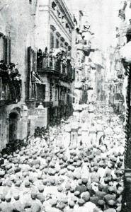 3 de 9 dels Xiquets de Valls / Vilafranca del Penedès, 1881