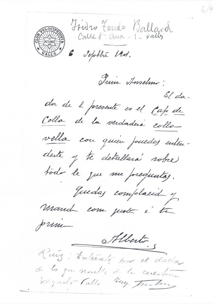 MUSEU CASTELLER DE CATALUNYA/CDOCA/Fons FRANCESC FRANCIN