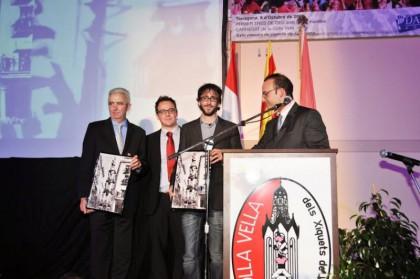 Signatura del Conveni amb la URV i el Dr. Àlex Cervelló