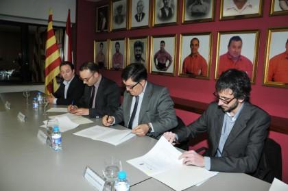 Acte de signatura del conveni amb la URV