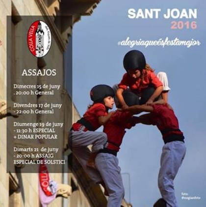 Quatre assajos per Sant Joan