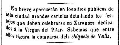 Saragossa (Aragó), 1875