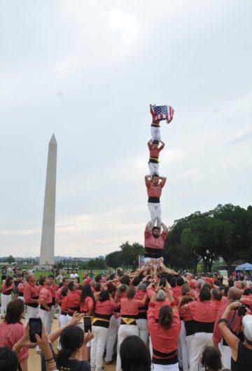 Primer dia de l'expedició de la Colla Vella a Washington DC