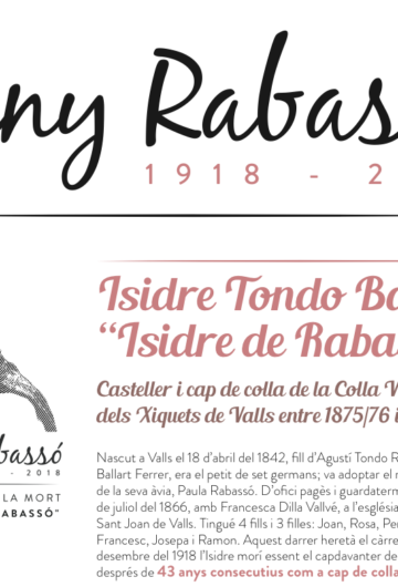 "Biografia d'Isidre Tondo Ballart, ""Isidre de Rabassó"""