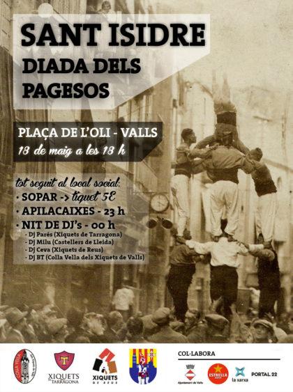 Presentat el cartell de la Diada Castellera de Sant Isidre, Diada dels Pagesos
