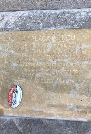 PLACA DEL 5 DE 9 AMB FOLRE A LA SELVA DEL CAMP