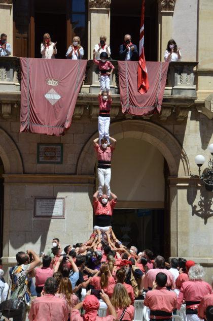 Els Xiquets de Valls retornen simbòlicament per Sant Joan amb una gran repercussió mediàtica